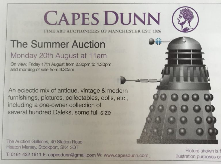 several hundred daleks for auction